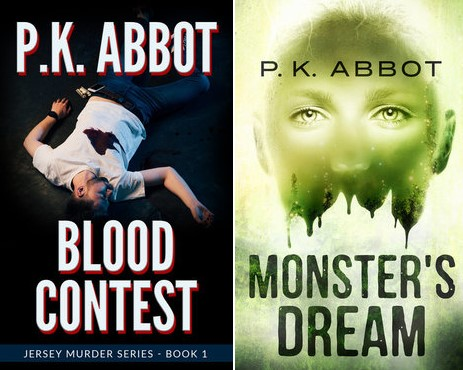 Book cover images: Blood Contest by P. K. Abbot and Monster's Dream by P. K. Abbot