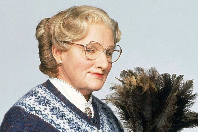 Robin Williams as Iphigenia Doubtfire