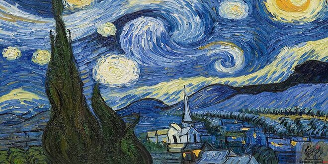 Painting: Starry Night by Vincent van Gogh