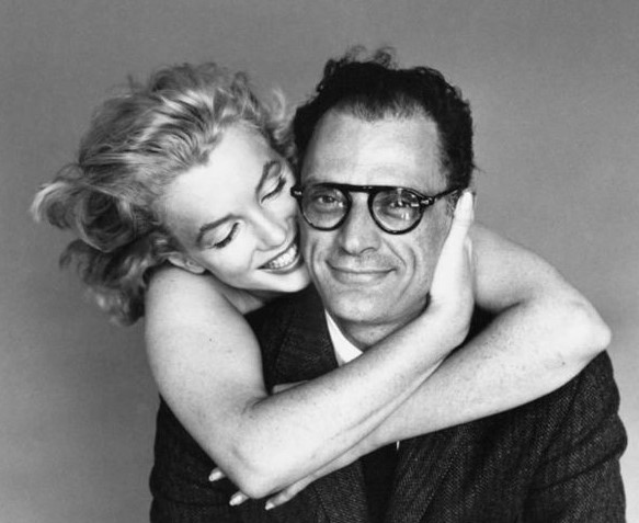 Playwright Arthur Miller and his wife, the actress marilyn Monroe