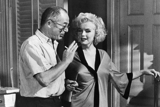 Billy Wilder and marilyn Monroe